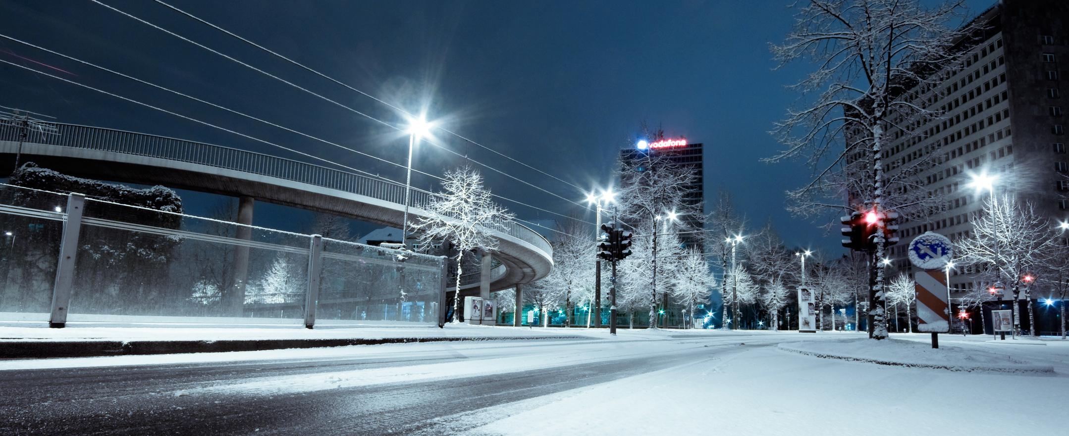 Düsseldorf im Winter